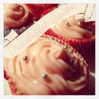 Punschkrapfen-Cupcakes